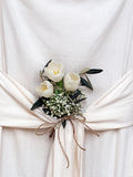 Floral arrangement in draped fabric. Interior design, arrangement. Royalty Free Stock Photo