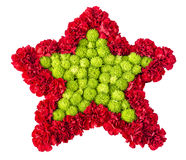 Floral arrangement in the form of stars of roses and chrysanthem Stock Photography