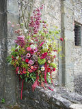 Floral arrangement outdoors Royalty Free Stock Image
