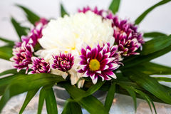 Floral arrangement at a party Royalty Free Stock Image