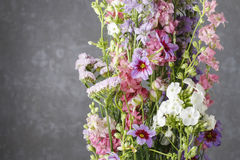 Floral arrangement with phlox and leucocoryne flowers Stock Photo