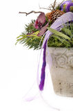 Floral arrangement in pot Stock Photo