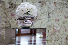Floral arrangement. In reflexive ball Royalty Free Stock Photo