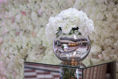 Floral arrangement. In reflexive ball Royalty Free Stock Images