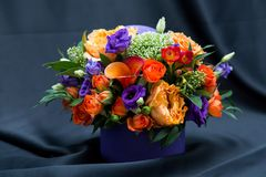 Floral arrangement with various spring flowers Stock Photos