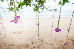 Floral arrangement at a wedding ceremony. Royalty Free Stock Photos