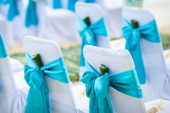 Floral arrangement at a wedding ceremony. On the beach Royalty Free Stock Photo