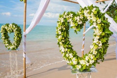 Floral arrangement at a wedding ceremony Royalty Free Stock Images