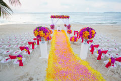 Floral arrangement at a wedding ceremony. Stock Photography