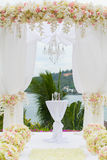 Floral arrangement at a wedding ceremony. In Thailand Stock Photo