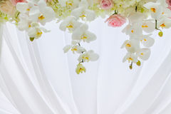 Floral arrangement at a wedding ceremony stock photography