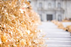 Floral arrangements for Flower Festival in Girona Stock Images