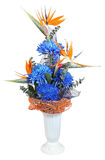 Floral Arrangements mixed bouquet included deep blue chrysanthem Royalty Free Stock Image