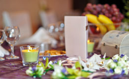 Floral arrangements on wedding ceremony detail Stock Photography