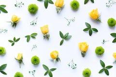 Floral Arrngement στο άσπρο υπόβαθρο Στοκ Εικόνες