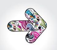 Floral arrow design Stock Photography