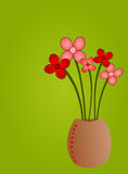 Floral art. Bouquet of flowers in front of a light green background vector illustration
