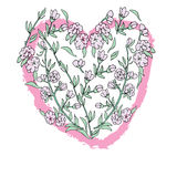 Floral art heart . Royalty Free Stock Photography