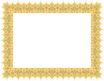 Floral Art Ornament Border in Pale colour stock images