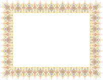 Floral Art Ornament Border in White Background royalty free stock photography