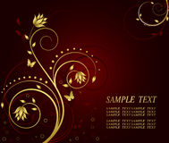 Floral artistic background. Floral abstract artistic vector background Stock Image