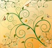 Floral artistic design background. Illustration stock illustration