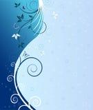 Floral artistic design background. Vector stock illustration