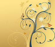 Floral artistic design background. Floral artistic design vector background vector illustration