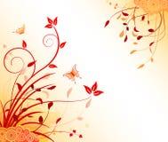 Floral artistic design background. Floral artistic design vector background stock illustration