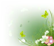 Floral  artistic design background Royalty Free Stock Photo