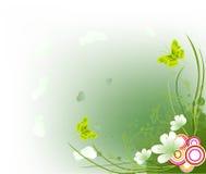 Floral artistic design background. Illustration vector illustration