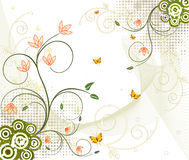 Floral  artistic vector design Stock Photography