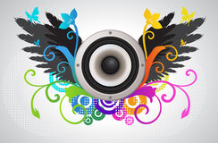 Floral audio speaker Royalty Free Stock Photography