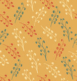 Floral autumn abstract pattern Royalty Free Stock Photo