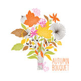 Floral autumn bouquet Stock Photos