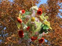 Floral autumn decoration hang stock footage