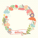 Floral autumn frame Stock Images