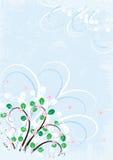 Floral azul stock de ilustración
