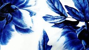 Floral azul abstrato fotografia de stock royalty free