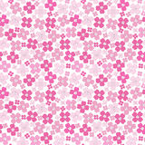 Floral baby girl seamless background pattern Stock Photo