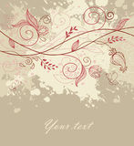 Floral back with blob. Vector illustration of Floral back with blob royalty free illustration