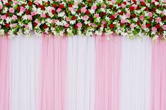 Floral backdrop. Closeup beautiful floral backdrop decorations design background Royalty Free Stock Image