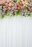 Floral backdrop in cozy room at the wedding Stock Photography