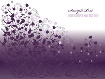 Floral background 10. The decorative background with stylized  flowers Stock Photo