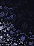 Floral background. Vector retro abstract floral background Stock Photography