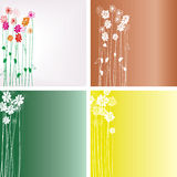 Floral background. Composition flowers, creative design with flowers Royalty Free Stock Photo