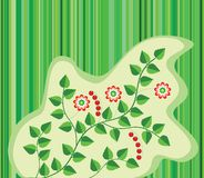 Floral background. Of leaves,flowers and berries Royalty Free Stock Photography