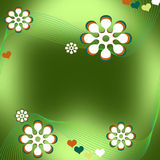 Floral background. Illustration of seamless floral pattern background Stock Photos