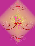 Floral Background. Floral design in purple background Royalty Free Stock Photo