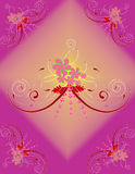 Floral Background. Floral design in purple background Stock Photo